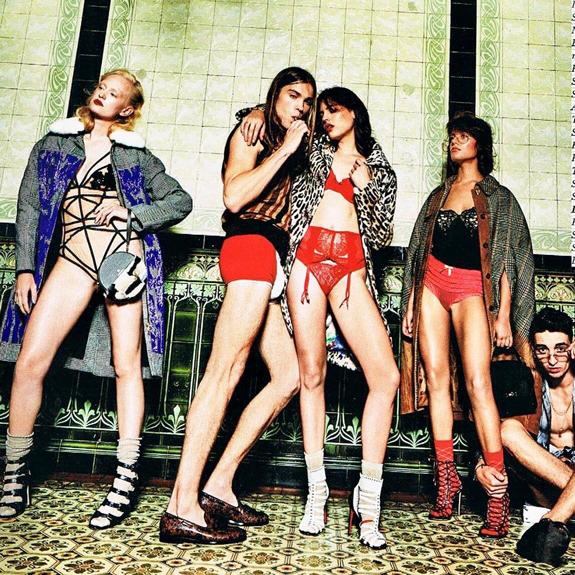 Gruppe von Models